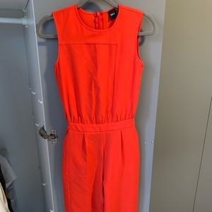 Red ASOS jumpsuit